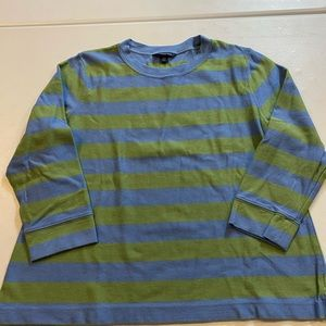 Lands End 14-16 petite striped pull over